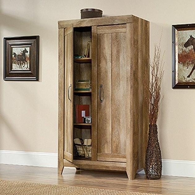 Image Of Sauder Adept Craftsman Oak Storage Cabinet 418141 The Home Depot  Craftsman Storage Cabinets