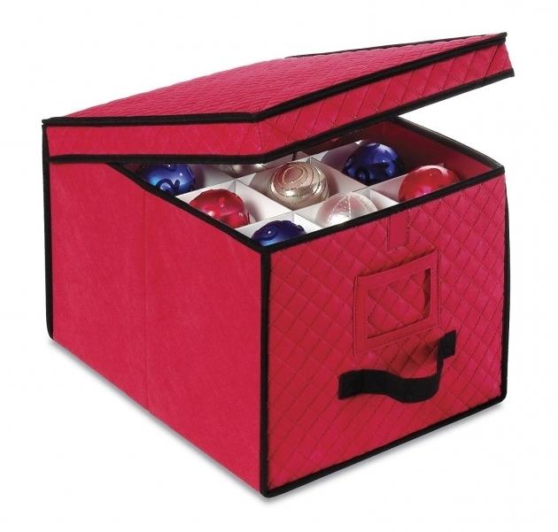 Image of Simple Transparent Plastic Ornament Storage Container Keep Container Store Ornament Storage