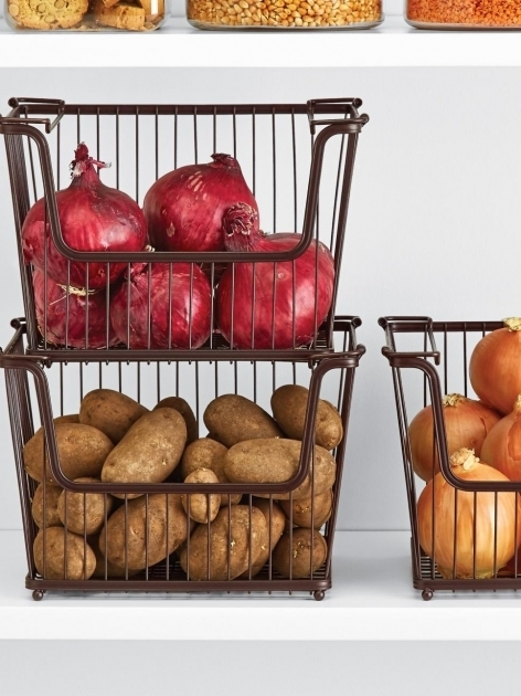 Incredible 20 Best Pantry Organizers Maximize Space Cabinets And Wire Baskets Onion Storage Container