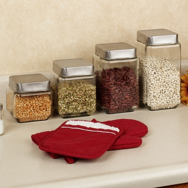 Incredible Kitchen Best Glass Kitchen Canisters Served In Four Options In Best Glass Storage Containers