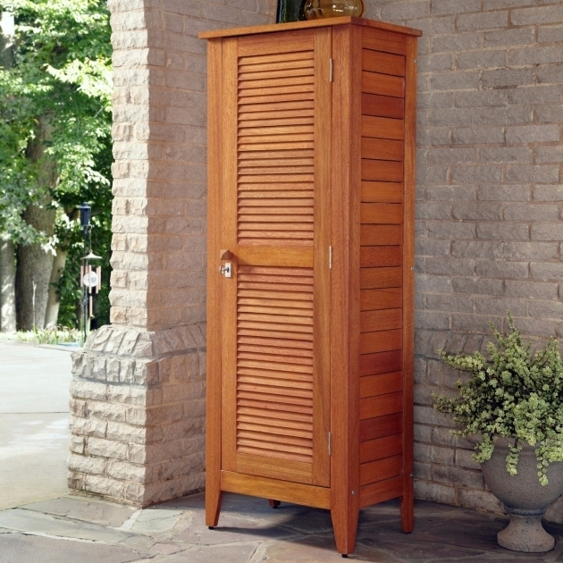 Incredible Outdoor Storage Cabinet Wood Tall Multipurpose Indoor 4 ...
