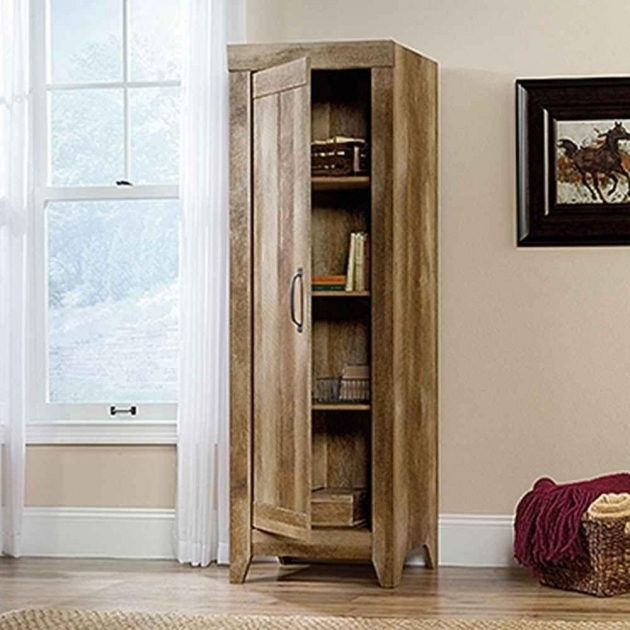 Incredible Sauder Adept Craftsman Oak Storage Cabinet 418137 The Home Depot Craftsman Storage Cabinets