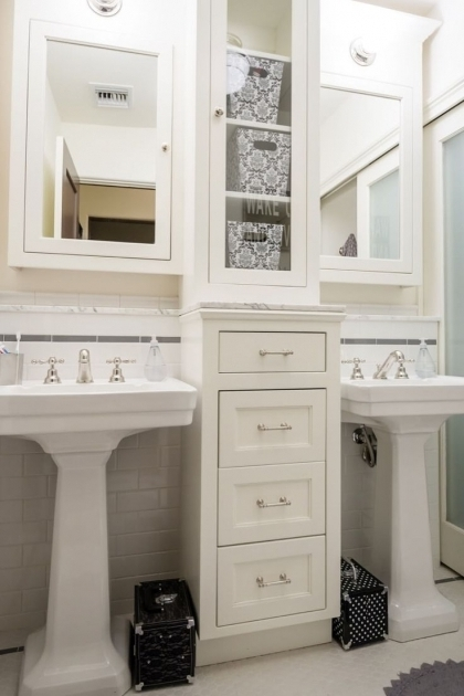 ... Inspiring 1000 Ideas About Pedestal Sink Storage On Pinterest Bathroom  Bathroom Pedestal Sink Storage Cabinet ...