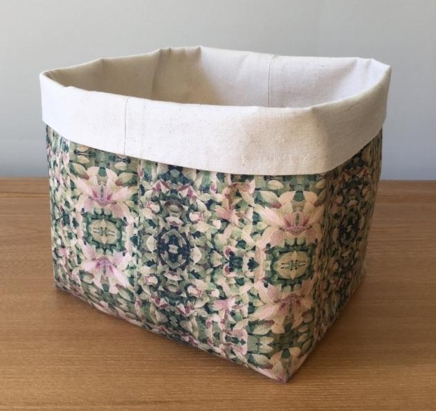 Inspiring Sale Green Large Soft Fabric Basket Bucket Storage Bin Soft Soft Storage Bins