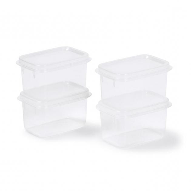 Inspiring Small Plastic Food Storage Containers 250ml Set Of 4 Kmart Kmart Plastic Storage Bins