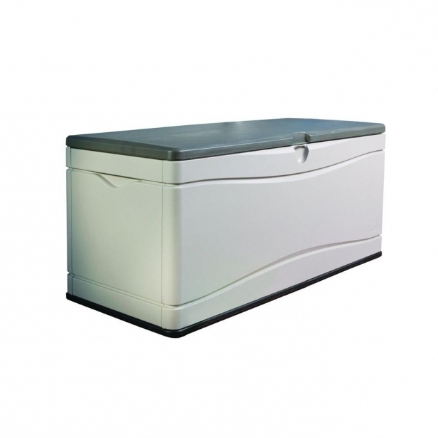 Marvelous Lifetime 130 Gal Polyethylene Outdoor Deck Box 60012 The Home Depot Outside Storage Bins