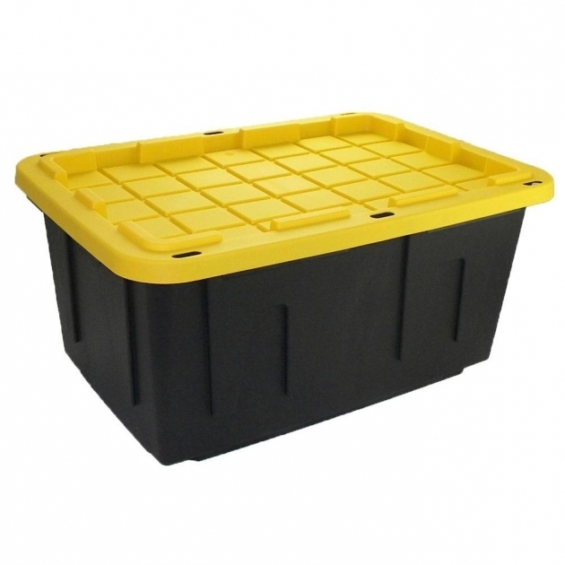 Picture of Hdx 27 Gal Storage Tote In Black 207585 At The Home Depot Home Depot Storage Containers