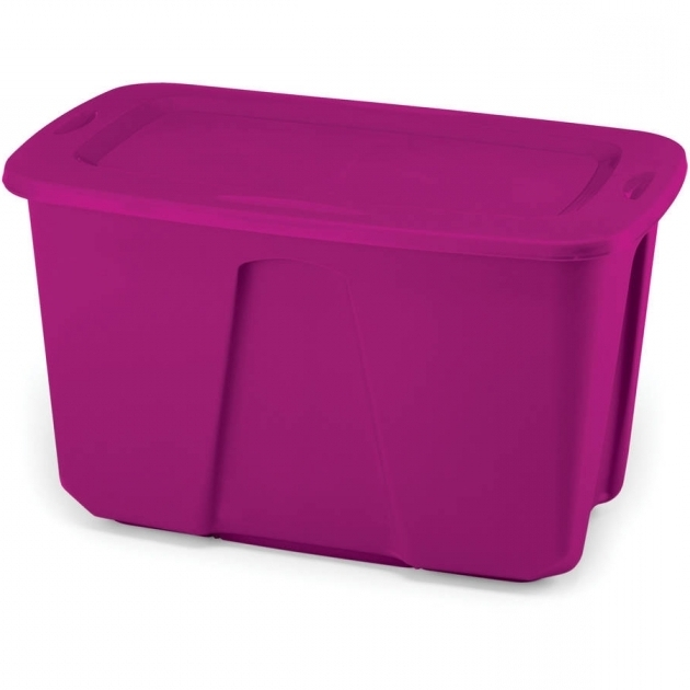 Picture of Homz 31 Qt Latching Clear Storage Set Of 4 Walmart Purple Storage Bins