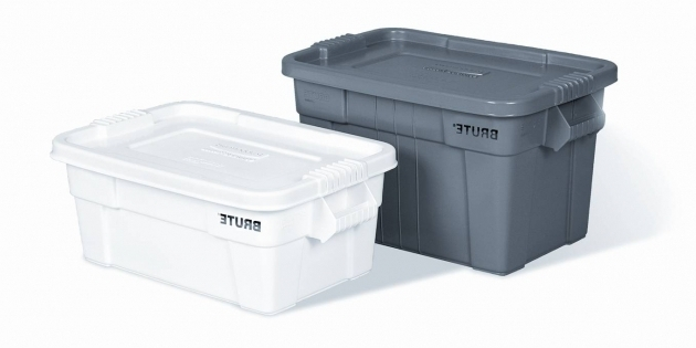 picture of rubbermaid 9s30 brute storage totes with lids tupperware storage bins