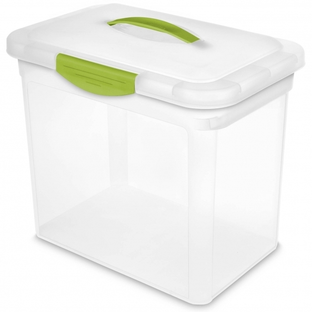 Picture of Sterilite Ez Carry Large Show Offs Storage Container Clear Large Plastic Food Storage Containers