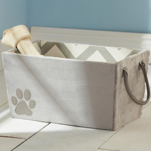 Remarkable Fabric Storage Bin Paw Print In Pet Organizers Soft Storage Bins
