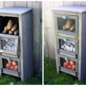 Wooden Vegetable Storage Bin