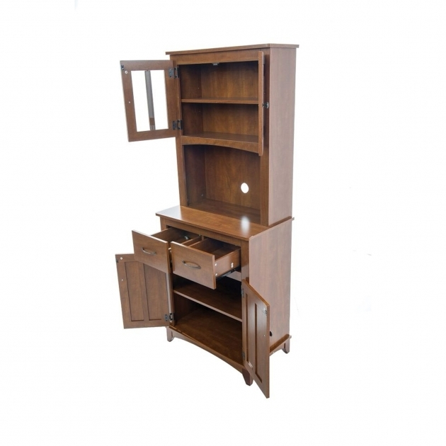 ... Stunning Oak Tall Microwave Cabinet Serving Utility Carts Kitchen  Islands Microwave Cabinet With Storage ...