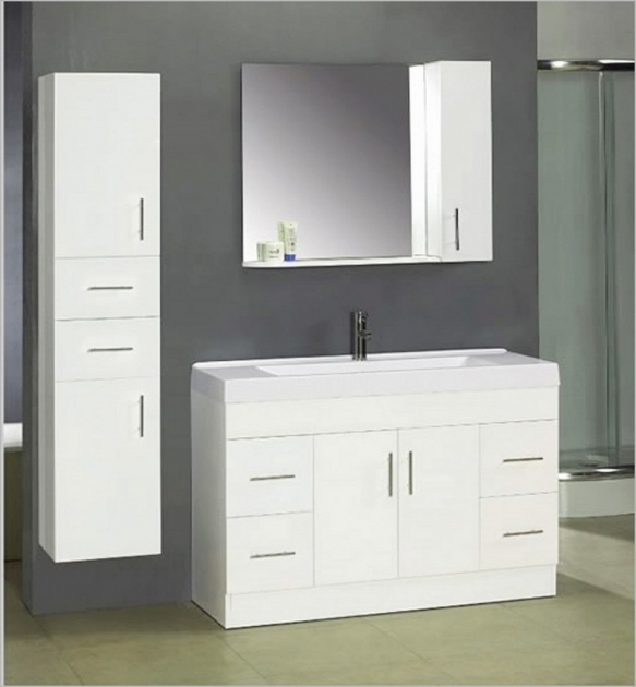 Stylish Great Modern Bathroom Wall Cabinet Design With White Glossy Accent Floating Storage Cabinets