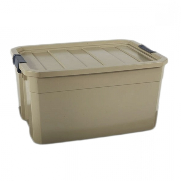 Stylish Shop Blue Hawk 19 Gallon Bronze Tote With Latching Lid At Lowes Lowes Storage Bins