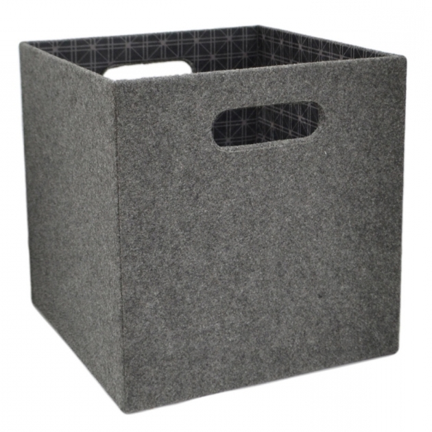 ... Outdoor Storage Bins Home Lowes Storage Containers. Amazing Shop Allen  Roth 1069 In W X 11 In H X 1069 In D Grey Fabric Lowes ...