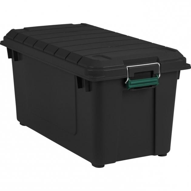 awesome storage bins totes storage organization the home depot large clear storage bins. Black Bedroom Furniture Sets. Home Design Ideas