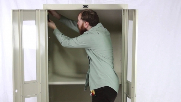Best Hallowell Storage Cabinet Assembly Guide Youtube Metal Storage Cabinet With Lock