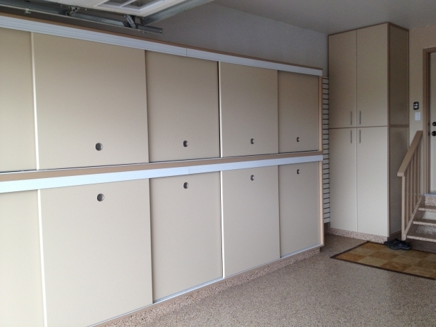 Fantastic Gerry Garage Slotwall Epoxy Floor Custom Cabinets Sliding Garage Storage Cabinets With Doors