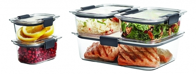 Fantastic Rubbermaid Brilliance Food Storage Container Bpa Free Plastic 10 Rubbermaid Brilliance Food Storage Container Large 9.6 Cup Clear