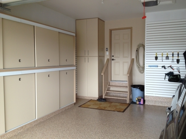 Gorgeous Gerry Garage Slotwall Epoxy Floor Custom Cabinets Sliding Garage Storage Cabinets With Doors