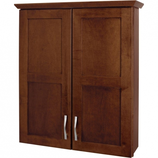 Gorgeous Glacier Bay Casual 25 12 In W X 29 In H X 7 12 In D Bathroom Bathroom Storage Cabinets Wall Mount