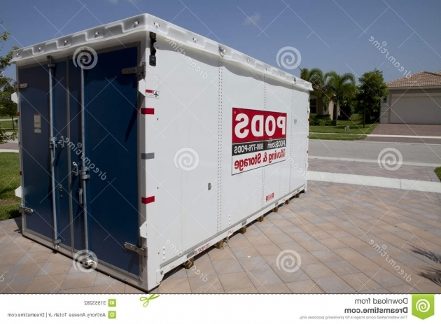 Gorgeous Packed Portable Storage Container Royalty Free Stock Image Pods Containers