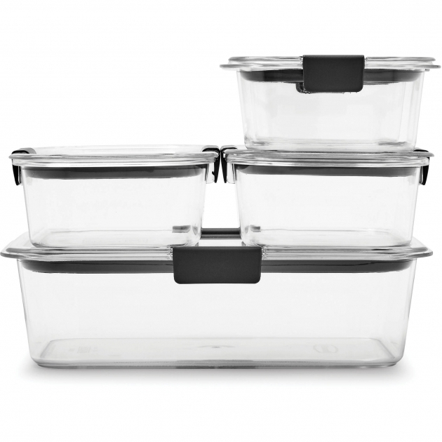 Gorgeous Rubbermaid Brilliance Food Storage Container 10 Piece Set Clear Rubbermaid Brilliance Food Storage Container Large 9.6 Cup Clear