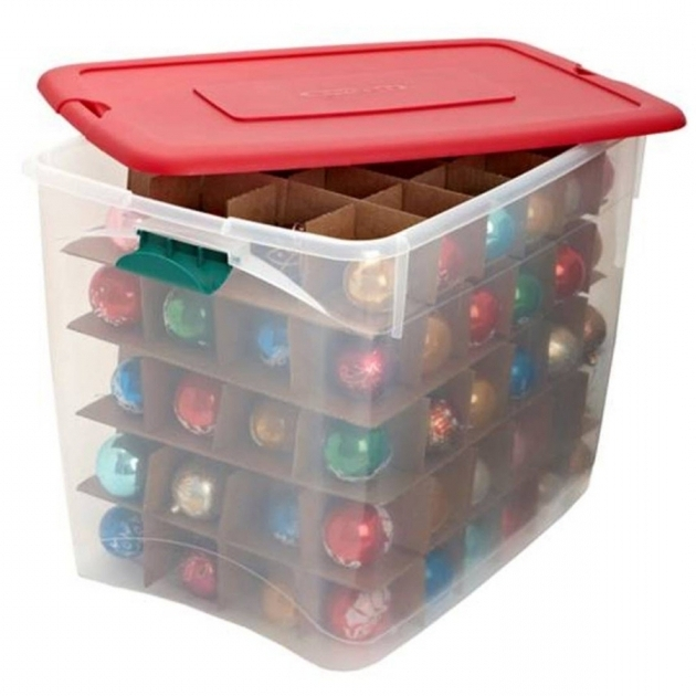 Gorgeous Shop Homz Products 17 In X 18 In Red Plastic Ornament Storage Bag Ornament Storage Containers