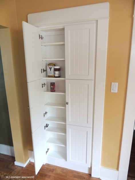 Image of A Shallow Pantry Cabinet In Place Of The Pre Existing Doorway We Shallow Storage Cabinet