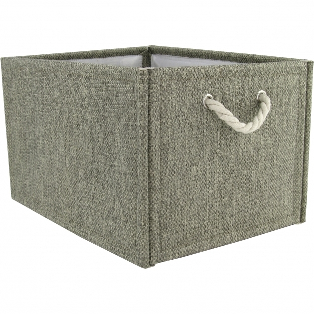 Image of Hometrends Fabric Storage Box Brown Walmart Canvas Storage Bins With Lids
