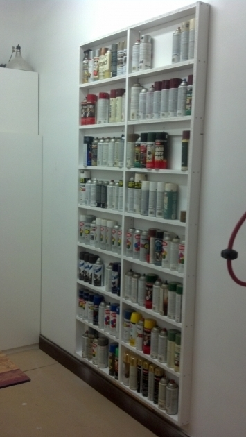 Image of I Was Filling Up My Storage Cabinets With All The Spray Paint Cans Shallow Storage Cabinet