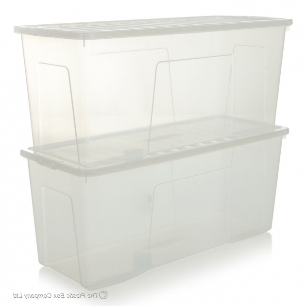 Inspiring Buy Extra Large Long 1m Plastic Storage Box Ideal For Christmas Trees Large Clear Storage Bins