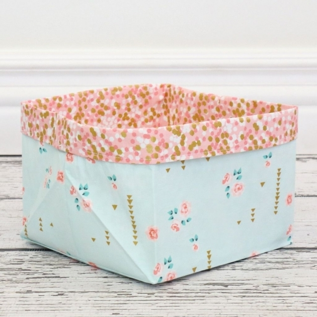 Inspiring Coral Gold Sparkle Fabric Storage Bins Sparkle Products And Coral Storage Bins