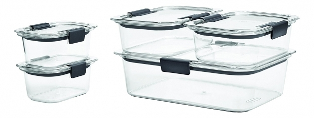 Inspiring Rubbermaid Brilliance Food Storage Container Bpa Free Plastic 10 Rubbermaid Brilliance Food Storage Container