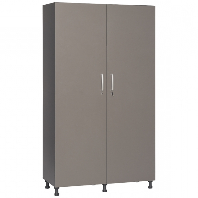 Inspiring Shop Garage Cabinets Storage Systems At Lowes Metal Storage Cabinet With Lock