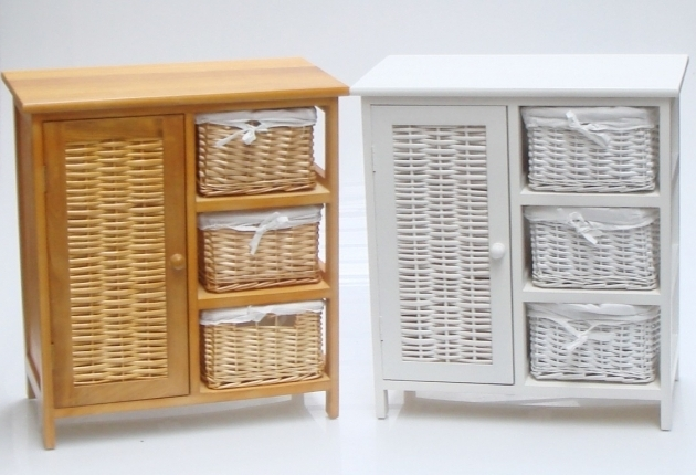 Wicker Storage Cabinets ~ Incredible charles bentley wooden wicker drawer storage