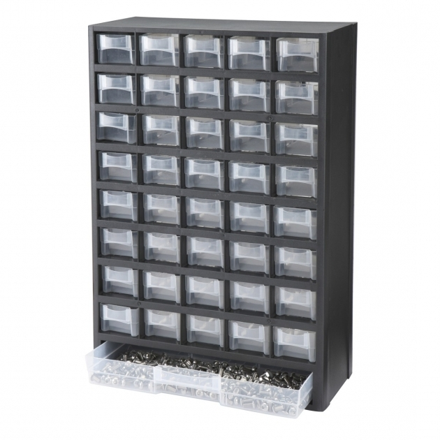 Marvelous 40 Bin Organizer With Full Length Drawer Storage Bins Seed Harbor Freight Storage Bins