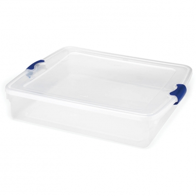 Marvelous Homz 56 Quart Underbed Latching Plastic Storage Tote Set Of 2 Underbed Storage Containers