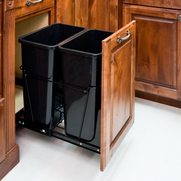 Outstanding Kitchen Cabinet Trash Can Kit Trash Bin Storage Cabinet