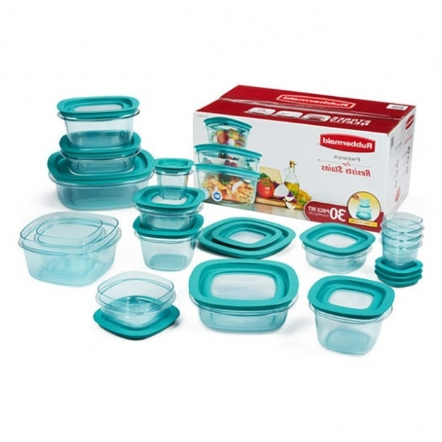 Outstanding Premier 30 Piece Plastic Food Storage Container Set Teal Clear Rubbermaid Kitchen Storage Containers