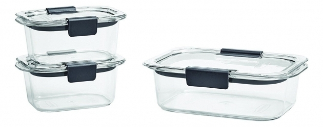 Outstanding Rubbermaid Brilliance Food Storage Containers Bpa Free Plastic 7 Rubbermaid Brilliance Food Storage Container Large 9.6 Cup Clear