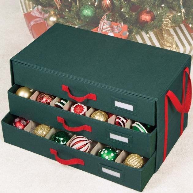 Picture of Holiday Ornament Storage Box In Ornament Storage Boxes Ornament Storage Containers