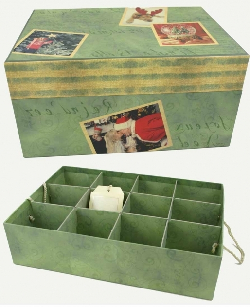 Picture of Our Christmas Memories Ornament Storage Box Ornament Storage Containers