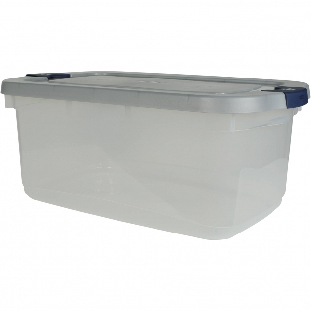 Picture of Rubbermaid Roughneck Clear Storage Tote Bins 50 Qt 125 Gal 50 Gallon Storage Bin