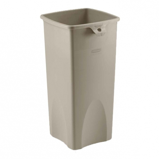 Remarkable Rubbermaid Commercial Products 1025 Gal Beige Rectangular Trash Tall Plastic Storage Bins