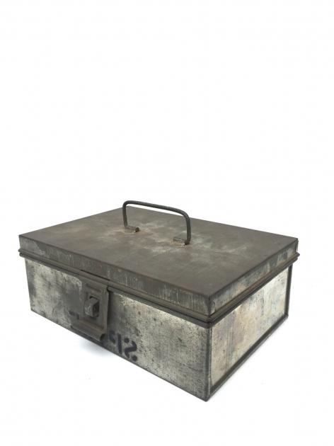 Stunning Vintage Industrial Galvanized Box Farmhouse Galvanized Storage Galvanized Storage Bins