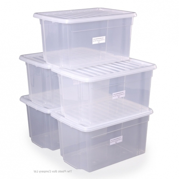Stylish Buy 50lt Uni Plastic Storage Boxes With Lids Free Delivery Large Clear Storage Bins