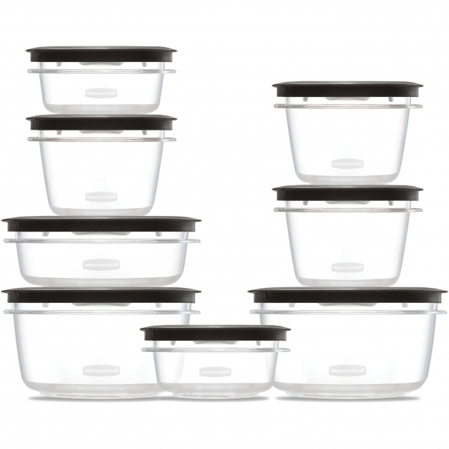 Stylish Rubbermaid Containers Rubbermaid Brilliance Food Storage Container Large 9.6 Cup Clear