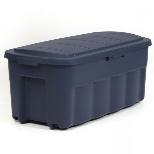 Stylish Shop Centrex Plastics Llc Rugged Tote 50 Gallon Blue Tote With 50 Gallon Storage Bin